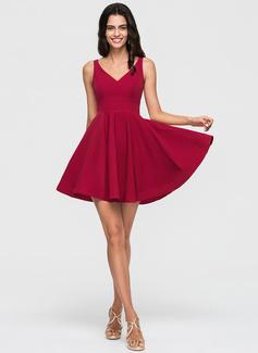 2 piece short graduation dresses