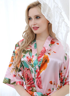 Ikke-personlig Polyester Brud Brudepike Rrobat me lule