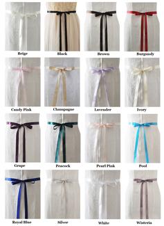 black satin sash for dress