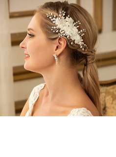 Ladies Elegant Alloy/Imitation Pearls/Voile Combs & Barrettes With Venetian Pearl (Sold in single piece)