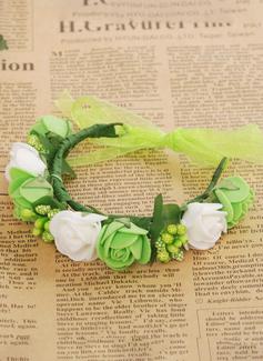 ivory wedding dress white flowers