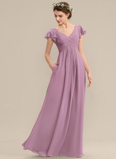 one sleeve chiffon dress