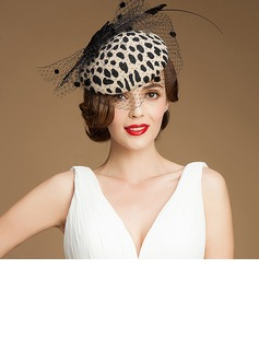 Ladies' Charming Wool With Tulle Beret Hats/Tea Party Hats