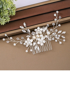 Ladies Elegant Crystal/Imitation Pearls/Glass Combs & Barrettes With Venetian Pearl/Crystal (Sold in single piece)