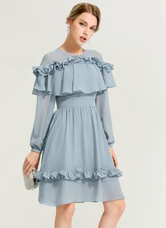 chiffon strapless dress short