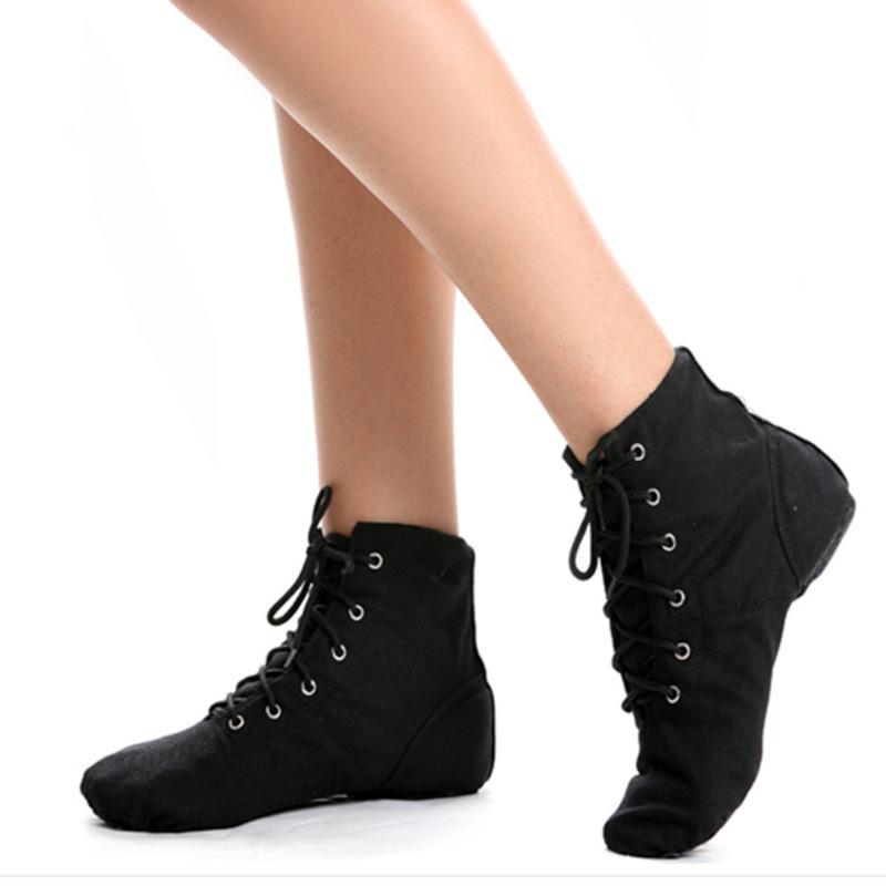 Kvinner Lerret Flate sko Støvler Jazz Dansesko