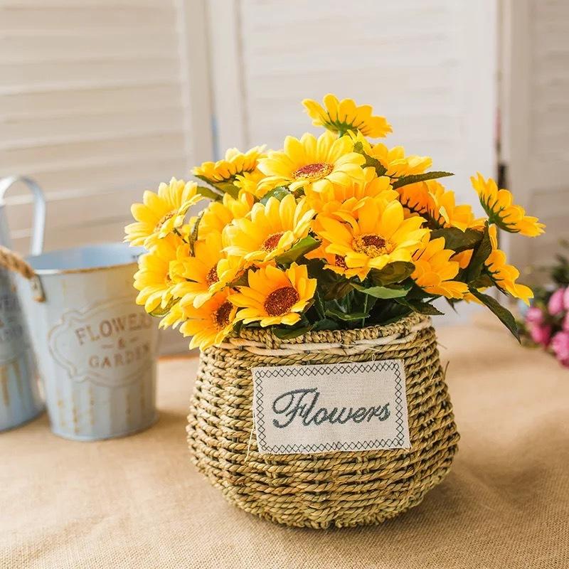 Lyse Fri Form Silke blomst Dekorasjoner/Bryllup Bord Blomster -