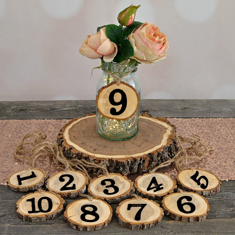 Classic Wooden Table Number Cards (Set of 10)