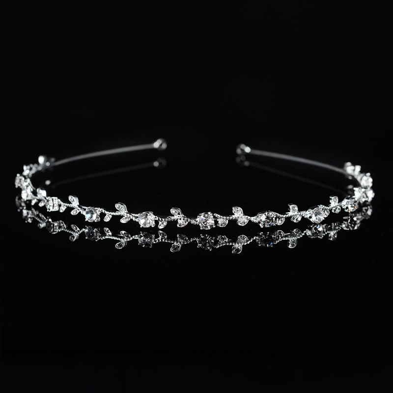 Ladies Glamourous Alloy Tiaras With Rhinestone (Sold in single piece)