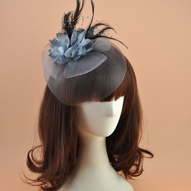 Damene ' Elegant Polyester med Fjær Fascinators/Tea Party Hats