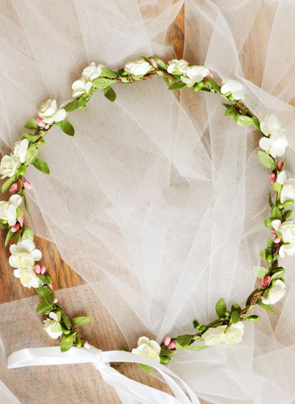 Kunstig Silke med Bånd blomst Pannebånd