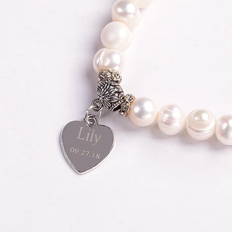 Bridesmaid Gifts - Personalized Beautiful Imitation Pearls Bracelet
