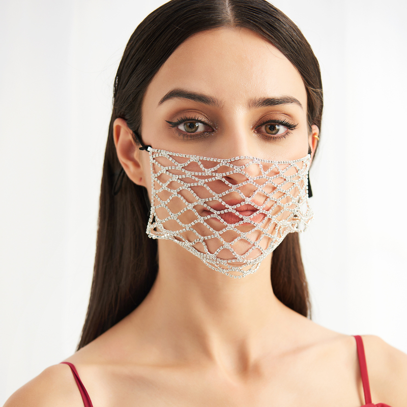 Ikke-medisinsk Rhinestones Gjenbrukbar Ansiktsmasker Med justerbar løkke