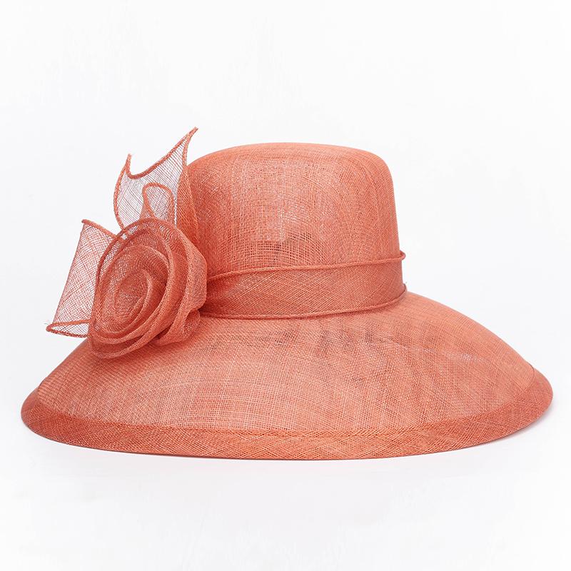 Damene ' Nydelig/Elegant/Jobb Organza med Fjær Fedora Hat
