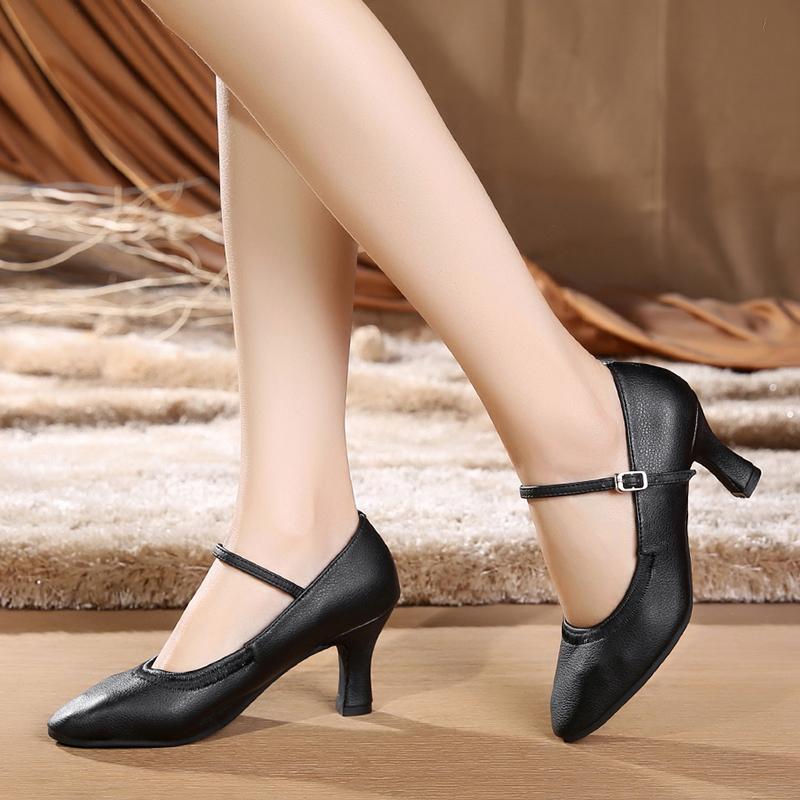 Women's Leatherette Heels Ballroom Character Shoes Dance Shoes