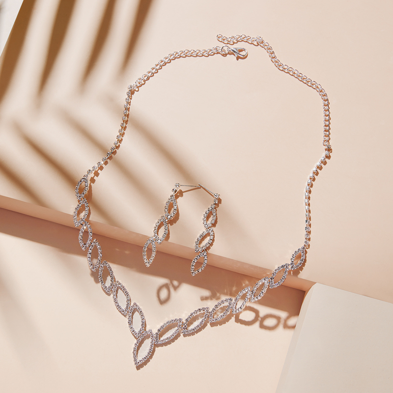 Shining Alloy/Copper With Rhinestone Ladies' Jewelry Sets
