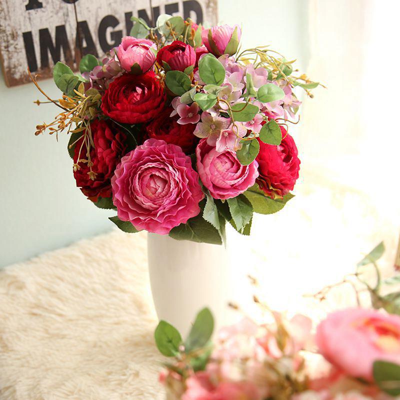 """Enkel/Klassisk stil """"Vakker blomst"""" Silke blomst Kunstige Blomster"""