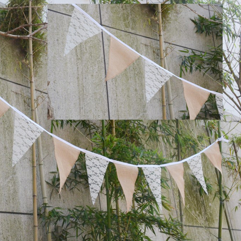 Lace/Burlap Photo Booth Props/Banner