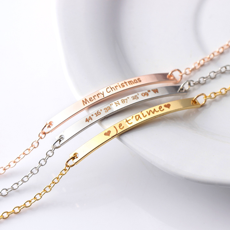 Bridesmaid Gifts - Personalized Beautiful Alloy Bracelet