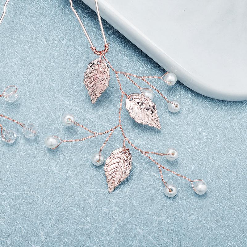 Damer Vakkert Imitert Perle Kammer og Barrettes med Venetianske Perle (Selges i ett stykke)