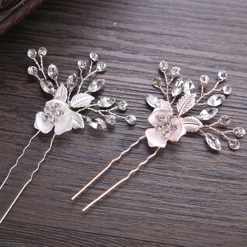Glamourous Alloy Hairpins With Venetian Pearl