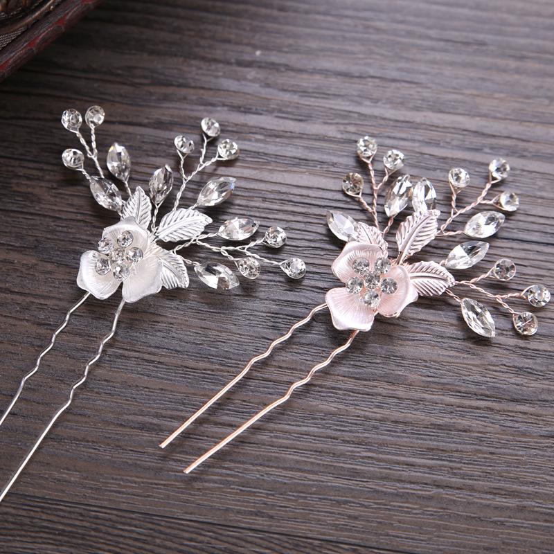 Glamorøse Legering Hårnåler med Venetianske Perle