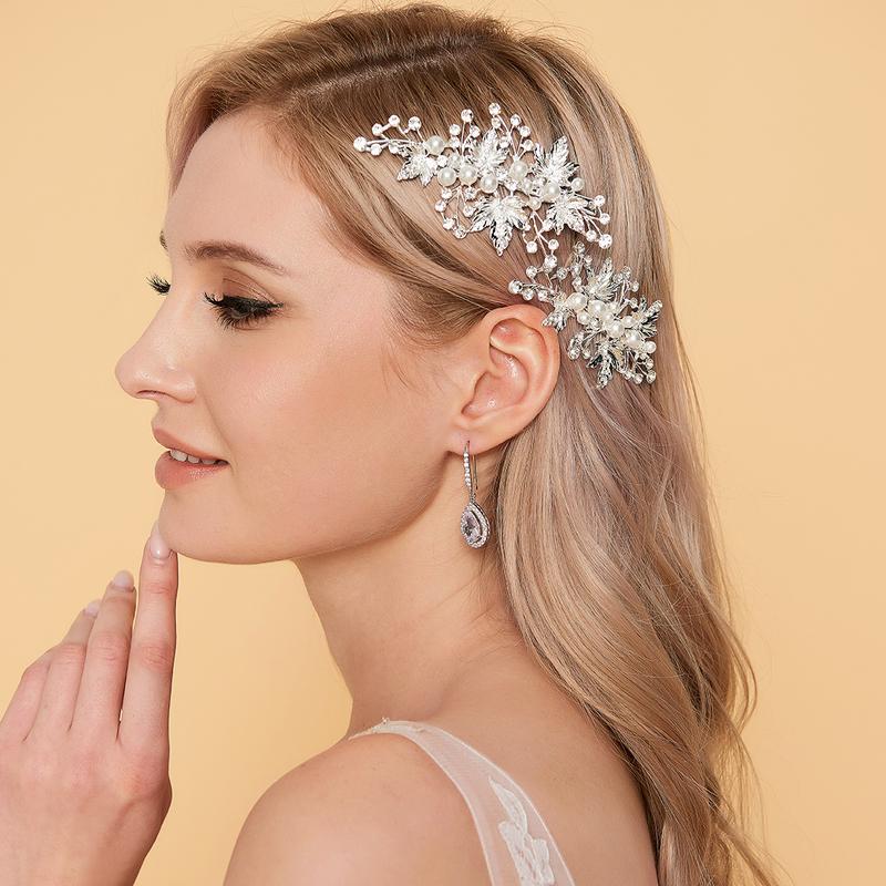 Ladies Unique Rhinestone/Alloy Hairpins (Set of 2)