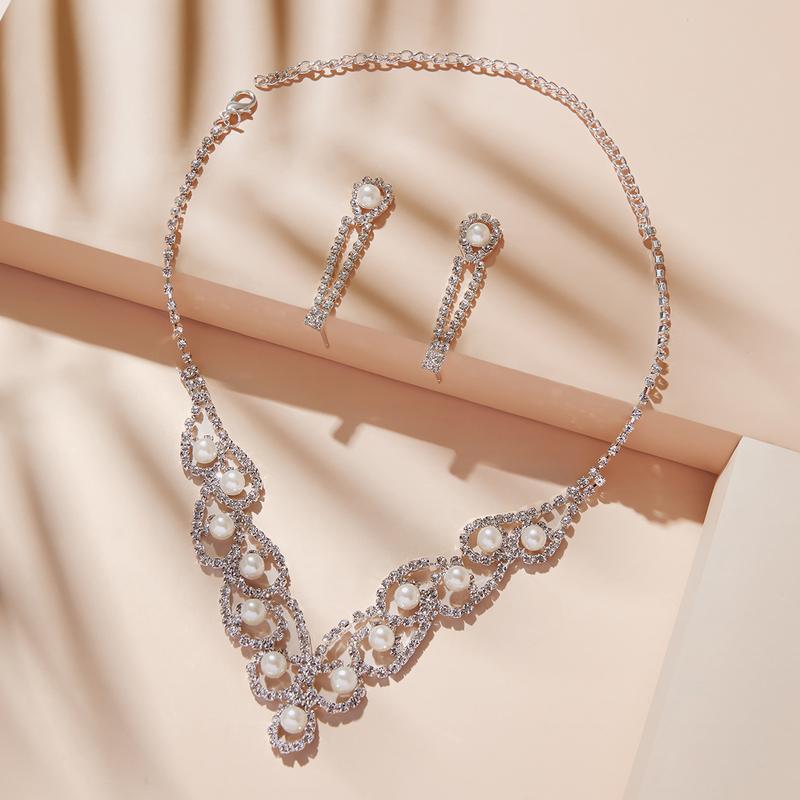 vintage stil Legering/kobber med Rhinestone/Imitert Perle Damene ' Smykker Sett