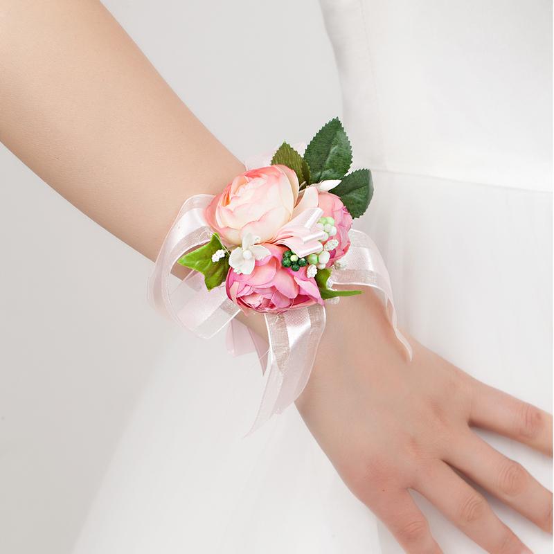 Delicate Free-Form Satin Wrist Corsage -