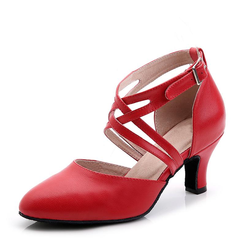 Women's Real Leather Heels Ballroom Dance Shoes