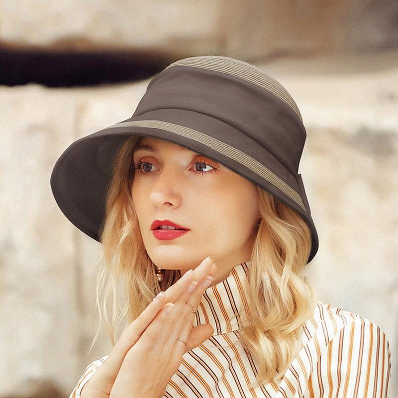 Damene ' Enkel/Jobb Polyester med Bowknot Bucket Hat