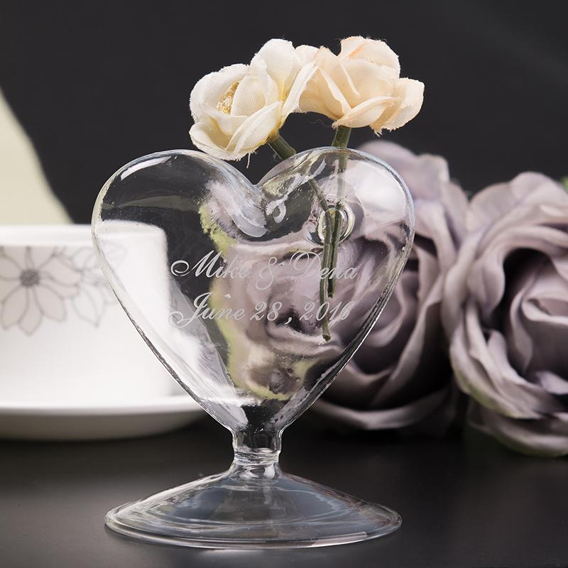 Personlig Hjerte-formet Glass (Selges i ett stykke)