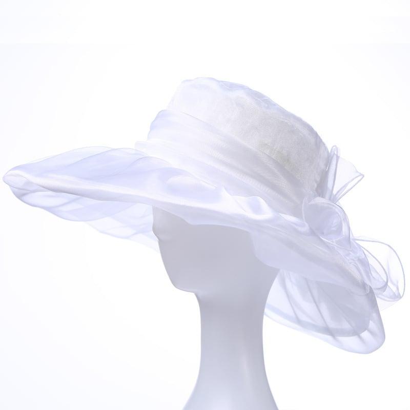 Damene ' Vakkert/Nydelig Organza Strand / Sol Hatter