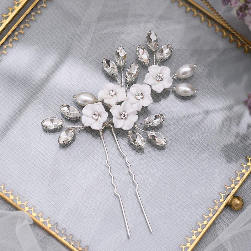 Damer/Kids Vakkert Rhinestone/Imitert Perle/Polymeren Leire Hårnåler med Rhinestone/Venetianske Perle (Selges i ett stykke)
