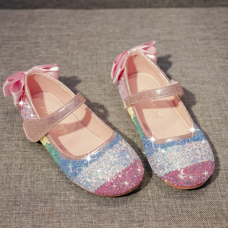 Jentas Lukket Tå Microfiber Lær flat Heel Flower Girl Shoes