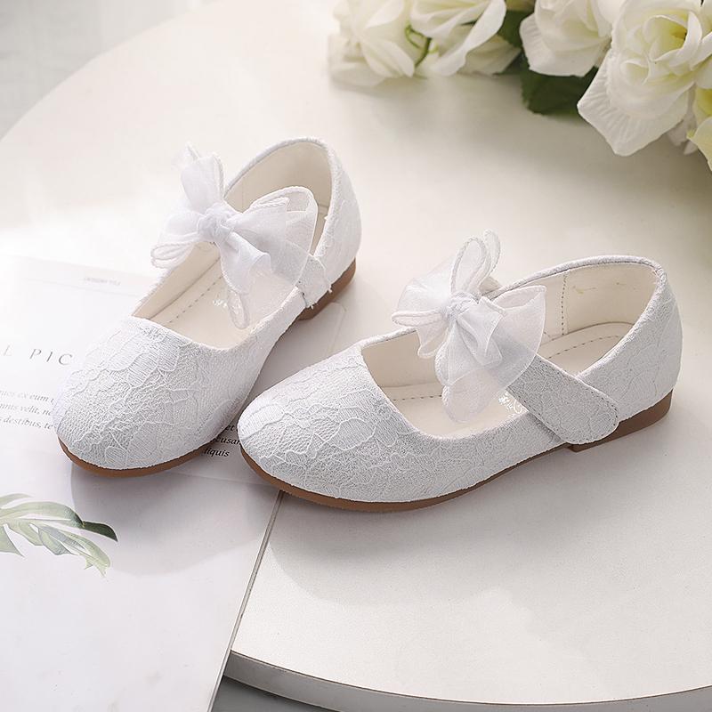 Jentas Lukket Tå lav Heel Flower Girl Shoes