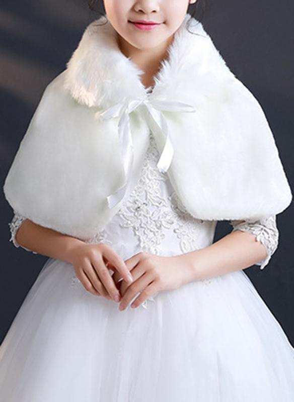 Faux Fur With Bow Wraps
