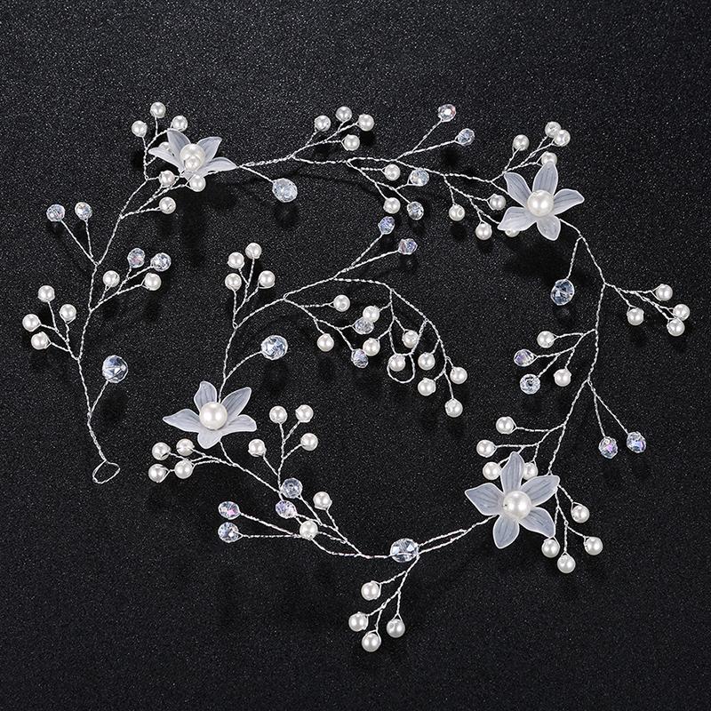Fashion Alloy/Imitation Pearls Headbands (Sold in single piece)
