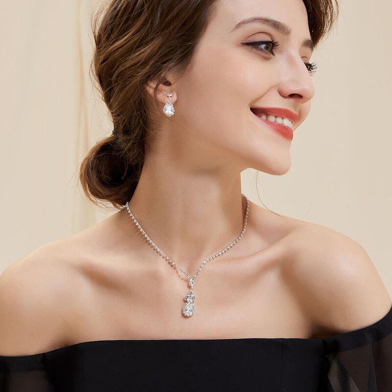 Elegant Rhinestones/Zircon With Rhinestone Ladies' Jewelry Sets