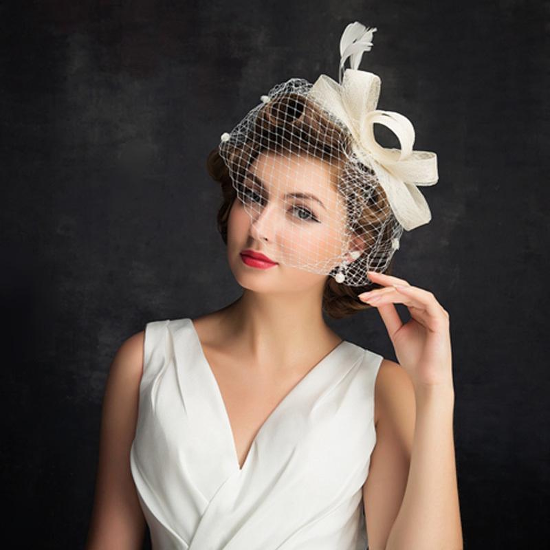 Damene ' Enkel Cambric/Fjær/Tyll med Fjær Fascinators/Tea Party Hats