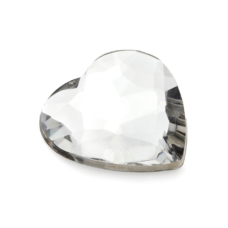 Heart Design Acrylic Diamond Pieces (set of 50)