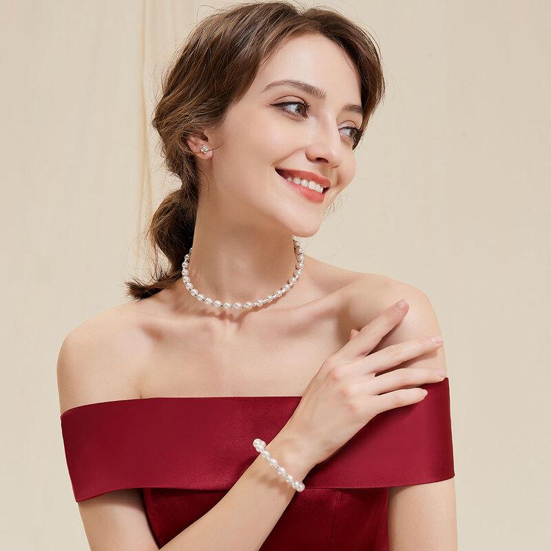 Legering/Imitert Perle Damene ' Smykker Sett