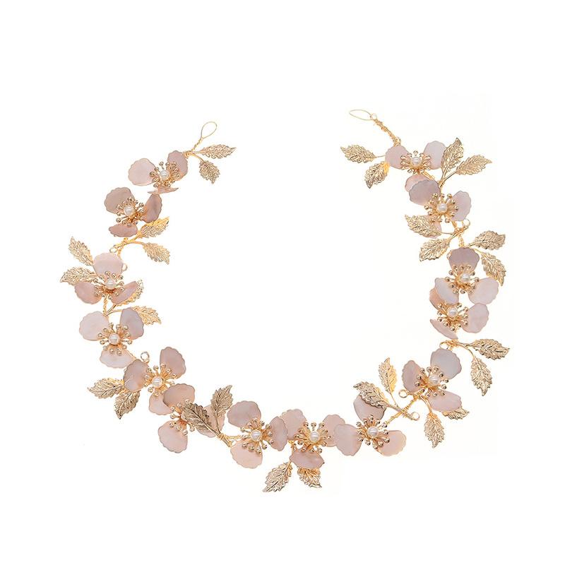 Damer Vakkert Legering/Imitert Perle Pannebånd med Venetianske Perle (Selges i ett stykke)