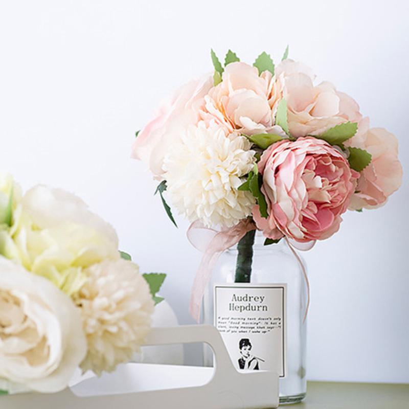 Hånd Bundet Silke blomst/Plast Dekorasjoner (som selges i et enkelt stykke) -
