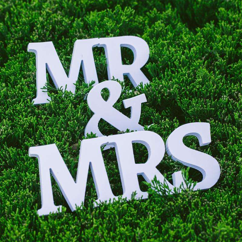 "PVC ""Mr. & Mrs."" Wedding Decorations"