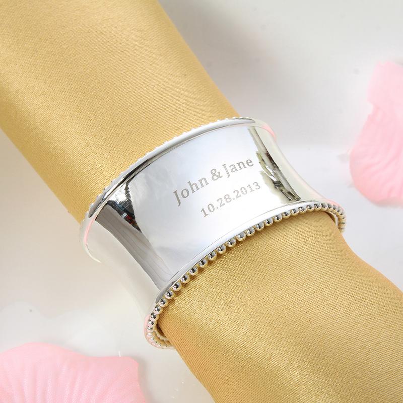 Personalized Zinc Alloy Napkin Rings