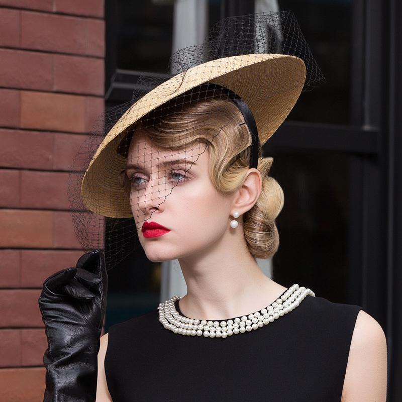 Special Raffia Straw Fascinators/Tea Party Hats