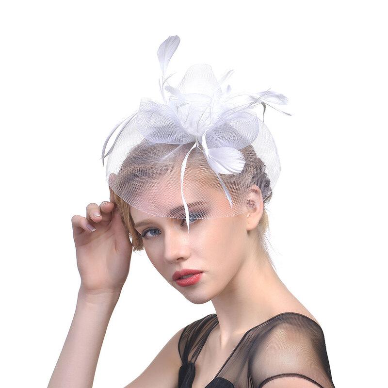 Damene ' Klassisk stil Cambric med Fjær Fascinators/Tea Party Hats
