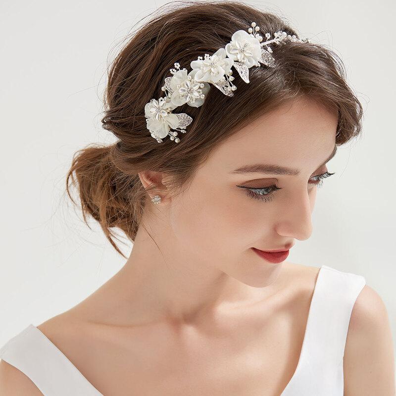Damer Vakkert Crystal/Legering/Imitert Perle/Silke blomst Tiaraer