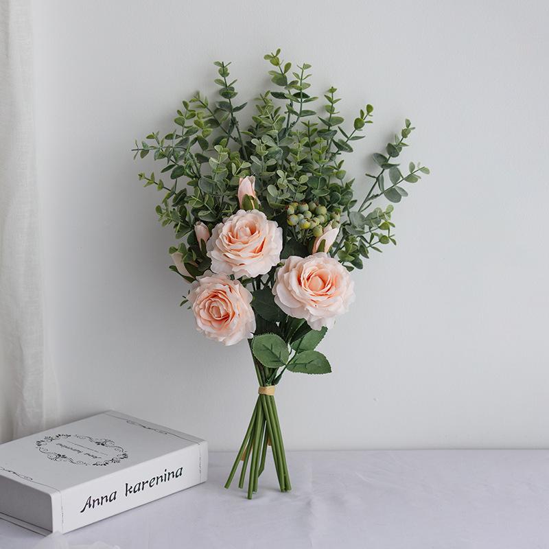 Jentete Fri Form Simulerings Bær/Silke blomst Brude Buketter -